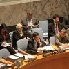 H.E. Dato' Ramlan Bin Ibrahim, Permanent Representative of Malaysia to the UN and President of the Security Council for June, chairs the Council's meeting on the situation in Côte d'Ivoire, 9 June 2015 (Photo:Wisma Putra)