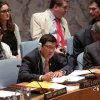 H.E. Dato' Ramlan Bin Ibrahim, Permanent Representative of Malaysia to the UN and President of the Security Council for June, chairs the Council's meeting on the situation in Burundi, 26 June 2015 (Photo:Wisma Putra)